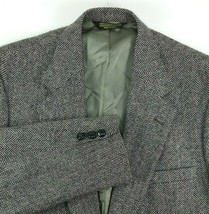 Brooke & Deane Mens Sport Coat Size 42 Regular Gray Black Herringbone 10... - $48.46