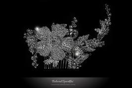 Adele Vintage Flower Statement Hair Comb | Swarovski Crystal - $115.95