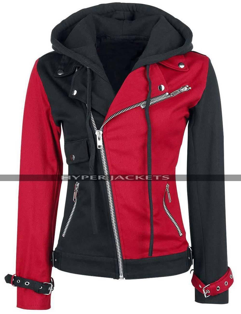 Harley quinn suicide squad black red jacket