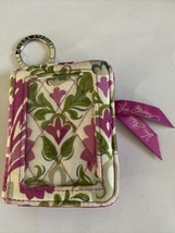 VERA BRADLEY B-fold ID Wallet Coin Purse Key Fob Pink Floral - $14.99