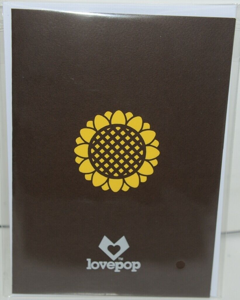 Lovepop LP1570 Sunflower Pop Up Card White Envelope Cellophane Wrapped
