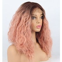 vvBing 6inch Lace Deep Parting Hair Wig Short Bob Lace Front Wig Synthetic 2 Ton image 3