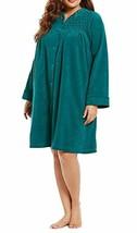 Miss Elaine Women's Long Sleeve Short Robe,Jade Green, Size L, MSRP $60 - $29.69