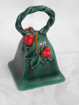 Vintage Lefton Christmas Green Holly and Berry Bell #787 - $9.99