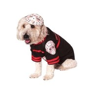 Jason Voorhees Friday the 13th Hockey Halloween Pet Dog Cat Costume XL - $12.00