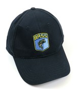 Navy B.A.S.S. Embroidered Logo Snap Buckle Closure Cap, 100% Cotton, Nev... - £14.51 GBP