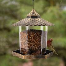 Twinkle Star Wild Bird Feeder Hanging Garden Yard Outside Decoration Hexagon NEW - $19.80