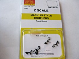 Micro-Trains Stock # 00204011 #908 Marklin Style Couplers Truck  Mount (Z Scale) image 1