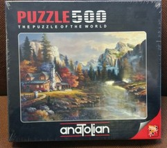 "Sunset Mountain Cabin James Lee ""Home At Last"" Anatolian 500 Piece Jigsa... - $29.69"