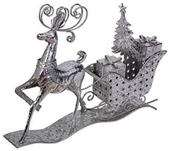 Sunset Vista Silver Sleigh and Reindeer