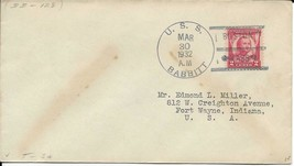 BABBITT (DD-128) 30 Mar 1932 Locy Type 3s(A) Postmark Boston MA - $3.47