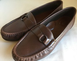 SAS 8.5 NARROW Jewel Cinnamon Brown Slip-On Comfort Shoes Moccasins Loaf... - $17.82