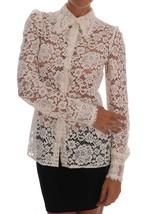 Dolce & Gabbana White Floral Lace Blouse Shirt - $550.00