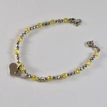 Bracelet en Argent 925 Rhodium avec Zirconia Cubique Billes et Pendentif Cœur image 2