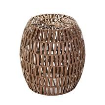 Woven Garden Stool, Garden Decorative Stool - Faux Rattan Woven Pattern - £112.59 GBP