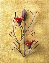 Gifts & Decor Ruby Blossom Tealight Candle Holder Wall Sconce Decor - $24.82