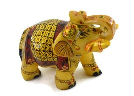Handmade Marble Elephant with miniature painting. - $18.80