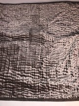 Hotel Collection Viscose Velvet Quilted Gray EURO Sham New Defect Read - $33.25