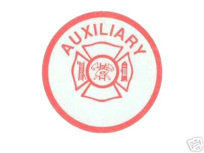 FIRE DEPARTMENT AUXILIARY Highly Reflective  RED VINYL DECAL