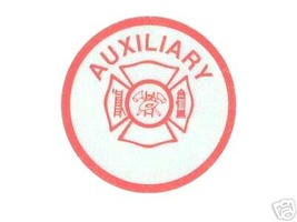 FIRE DEPARTMENT AUXILIARY Highly Reflective  RED VINYL DECAL image 1