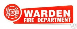 FIRE DEPARTMENT WARDEN  Highly Reflective DECAL FIRE Warden Decal image 1