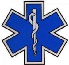 "STAR OF LIFE 16"" x 16"" Highly REFLECTIVE Ambulance Decal -Star of Life EMS Decal image 1"