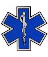 """STAR OF LIFE Decal - 16"""" x 16"""" Highly REFLECTIVE Ambulance Decal -Star o... - $49.45"""