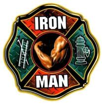 IRON MAN FIREFIGHTER REFLECTIVE FULL COLOR SMALLER FIREFIGHTER DECALS image 1
