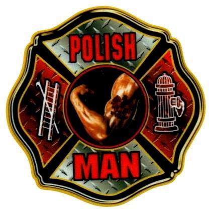 POLISH MAN Highly Reflective Maltese Cross Full Color Polish Firefighter  DECAL