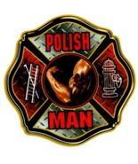 POLISH MAN Highly Reflective Maltese Cross Full Color Polish Firefighter... - $2.48