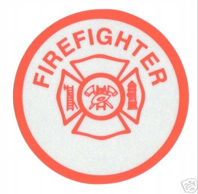 FIREFIGHTER Highly Reflective FIRE DEPARTMENT VINYL DECAL