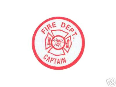 CAPTAIN  FIRE DEPARTMENT ROUND HIGHLY REFLECTIVE VINYL DECAL