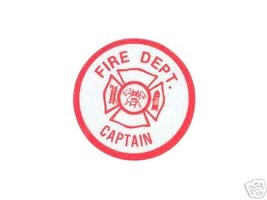 CAPTAIN  FIRE DEPARTMENT ROUND HIGHLY REFLECTIVE VINYL DECAL image 1