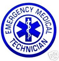 EMERGENCY MEDICAL TECHNICIAN Inside Window Star of Life Static Decal image 1