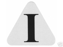 """FIRE DEPARTMENT  """"I"""" INTERIOR HELMET DECAL - INTERIOR FIREFIGHTER Decal image 1"""