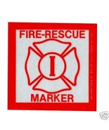 25 FIRE RESCUE DISABLED PERSON INVALID REFLECTIVE WINDOW DECALS-   Twent... - $27.67