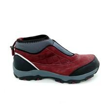 Lands End Womens 394044 Pull On Suede Trekker Shoe Bungee Collar Purple 10B  - $49.49