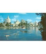 Hotel Row and Indian Creek, Miami Beach, Florida unused Postcard  - $3.99