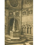 Interior Cathedral of St. John the Divine, New York early 1900s unused P... - $6.77