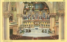 Interior, Memorial Church, Stanford University, Palo Alto, California po... - $3.99