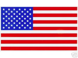 """AMERICAN FLAG VINYL DECALS - PACKAGE OF 20 -  Size: 2 1/4"""" x 4"""" - $9.65"""