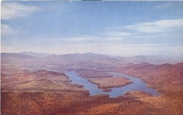 Lake Placid from Whiteface Mountain, Adirondack, New York 1950s unused Postcard - $4.50