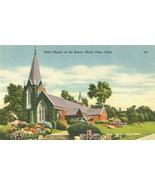 Little Chapel of the Roses, Chula Vista, California unused linen Postcard  - $4.50
