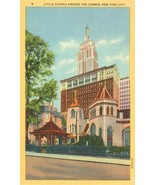 The Little Church around the Corner, New York City unused linen Postcard  - $3.99