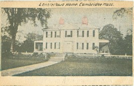 Lonolellows Home, Cambridge, Mass, early 1900s, home made unused Postcard  - $6.77