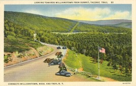 Looking towards Williamstown from summit, Taconic Trail NY 1930s unused Postcard - $4.99