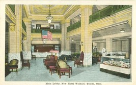 Main Lobby, New Hotel Waldorf, Toledo, Ohio 1935 used Postcard  - $9.99