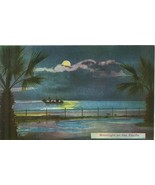 Moonlight on the Pacific early 1900s unused Postcard  - $4.99