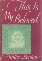 This is My Beloved by Benton, Walter - $9.99