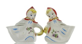 Hull Little Red Riding Hood Open Sugar and Creamer BBB